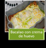 BACALAO CON CREMA DE HUEVO