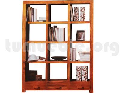 mueble libreria en teca 4146