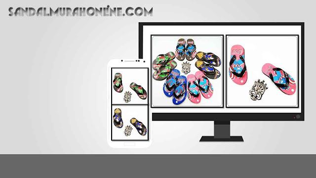 Jual Sandal Karakter Anak Cowok Termurah - Sandal AMX Karakter Simplek Anak