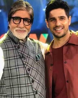 Sidharth Malhotra With Amitabh Bachchan