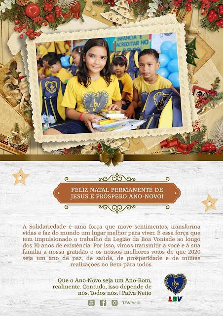 LBV deseja Feliz Natal e Próspero Ano-Novo!