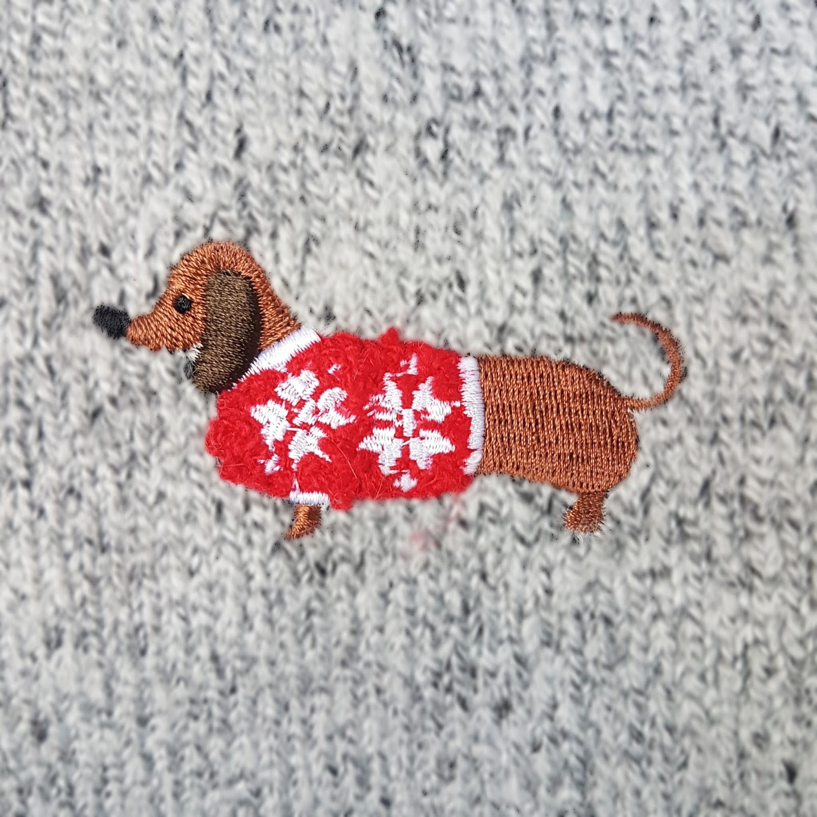 Close up of Christmas Jumper
