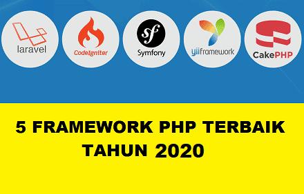 5 Framework PHP Terbaik Tahun 2020