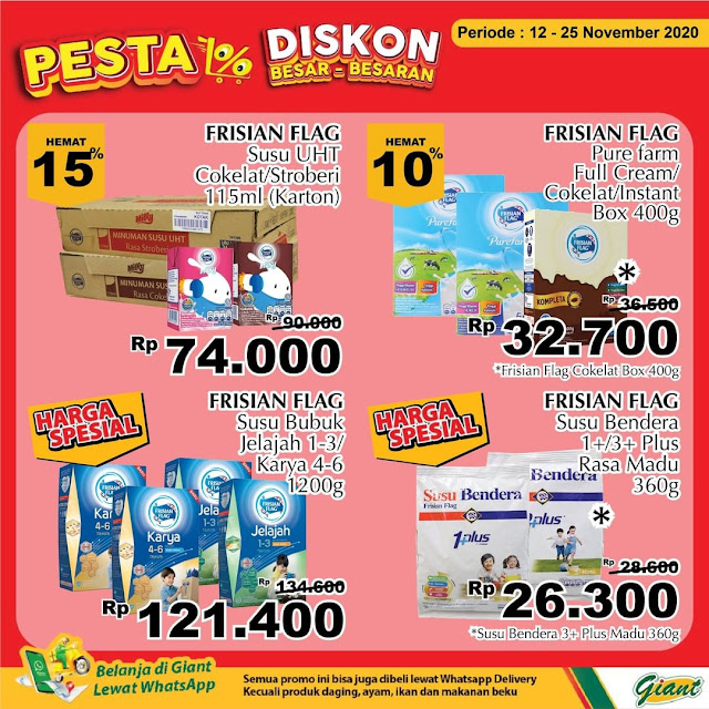 Promo PESTA Diskon SUSU BESAR BESARAN , Ada Susu Diamond Hanya 18 Ribuan (s.d 25 November 2020)
