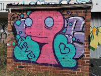 Dickson Street Art   Dino Boy