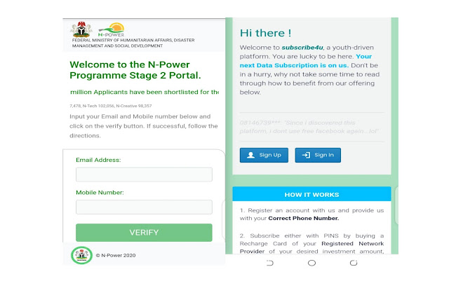 Npower scam website for checking shortlisted candidates npower-fmhds-gov-ng.webapp