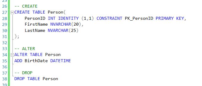 SQL Server commands - DML, DDL, DCL, TCL                      SQL Server commands - DML, DDL, DCL, TCL