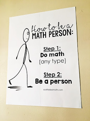 """""""How to be a Math Person"""" - inspirational math classroom decor"""
