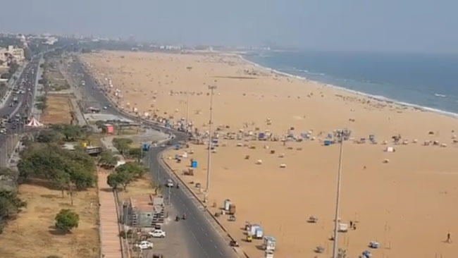 View of Marina Beach from Light house