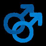 性別記号のイラスト(男性同性愛)