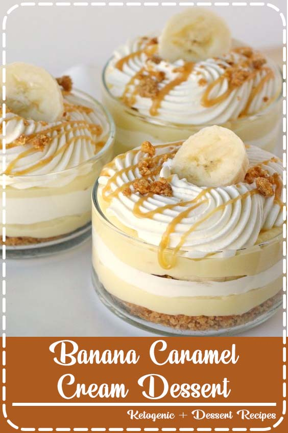 This Banana Caramel Cream Dessert is simply one of the most delicious desserts ever Banana Caramel Cream Dessert