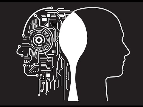 Disegno fusione tra uomo e tecnologia digitale