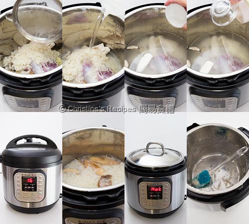 淮山瘦肉粥製作圖 Chinese Yam and Pork Shin Congee Procedures