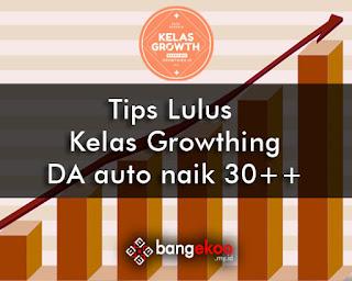 tips lulus kelas growth blogger