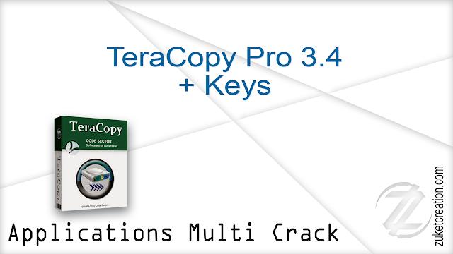 TeraCopy Pro 3.4 + Keys