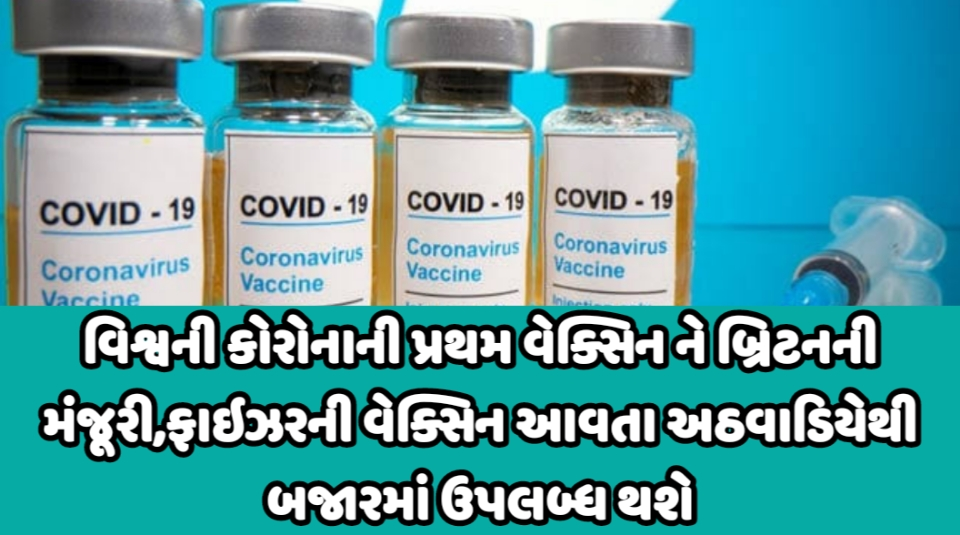 Covid 19 Vaccine:Uk Approves Pfizer & BioNtech Vaccine