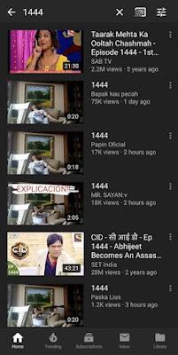فيديو 1444 على يوتيوب