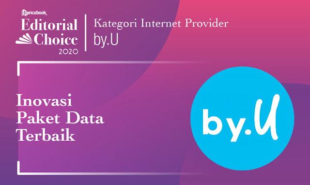 Sepanjang tahun 2020, Pricebook Menilai by,U sebagai Intenet Service Provider dengan Inovasi Paket Data Terbaik