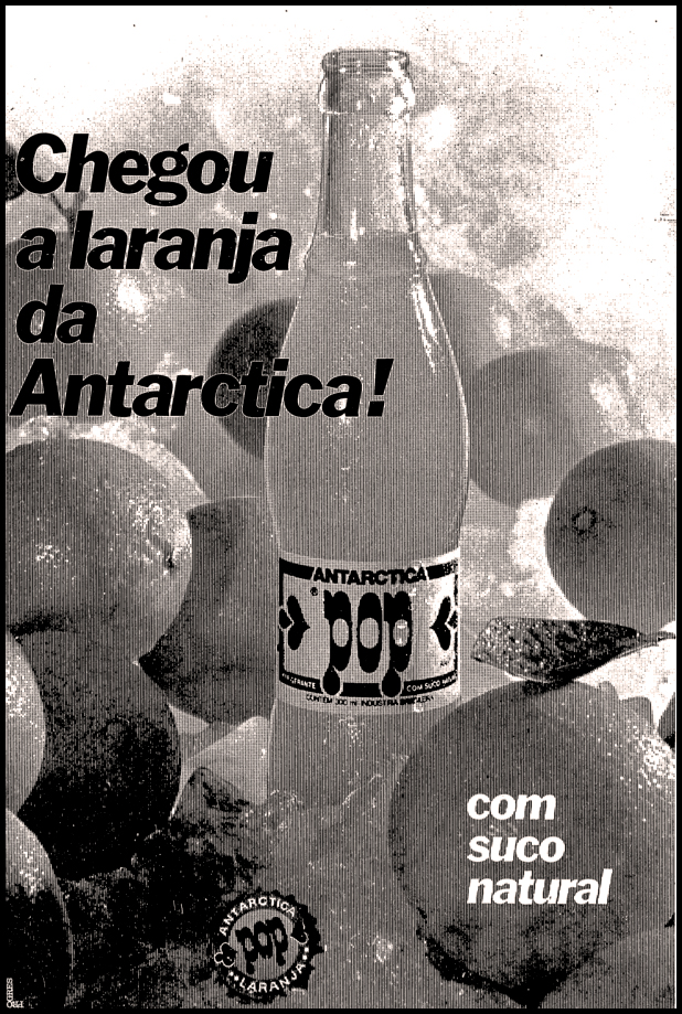 Campanha de lançamento do refrigerante POP, da Antarctica em 1977