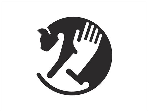 Contoh Desain Logo Negative Space - 26
