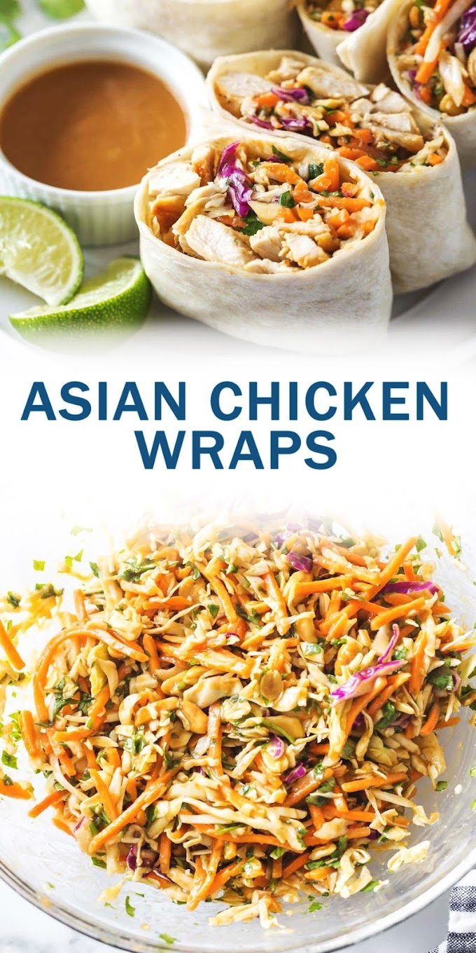 ASIAN CHICKEN WRAPS - Bestrecipe005