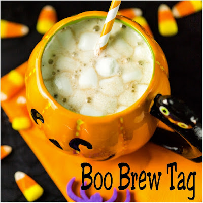Give a sweet treat this Halloween with these printable Halloween tags.  Tags have a cute poem for Boo Brew that will be a sweet treat for any trick or treater, class party, or Trunk or Treat night.