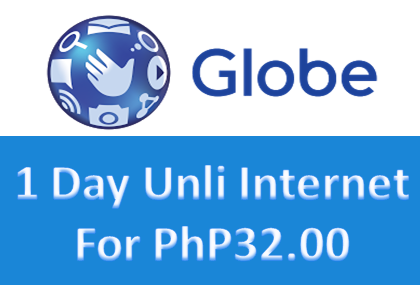 Cheap one day unlimited internet for php31 globe for Globe tattoo internet load