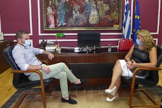 Επίσκεψη Μαρίας Αντωνίου στον Δήμαρχο Καστοριάς