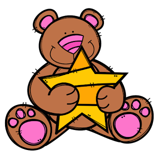Bears Hugging Stars Clip Art.