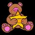 Bears Hugging Stars Clip Art.