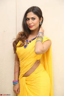 Nishigandha in Yellow backless Strapless Choli and Half Saree Spicy Pics 114.JPG