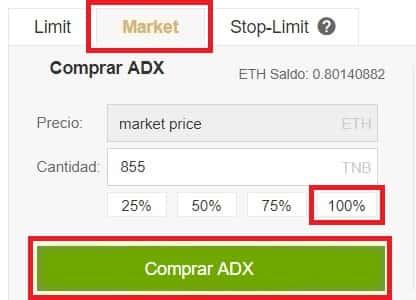 Tutorial Español Paso a Paso para comprar AdEx (ADX)