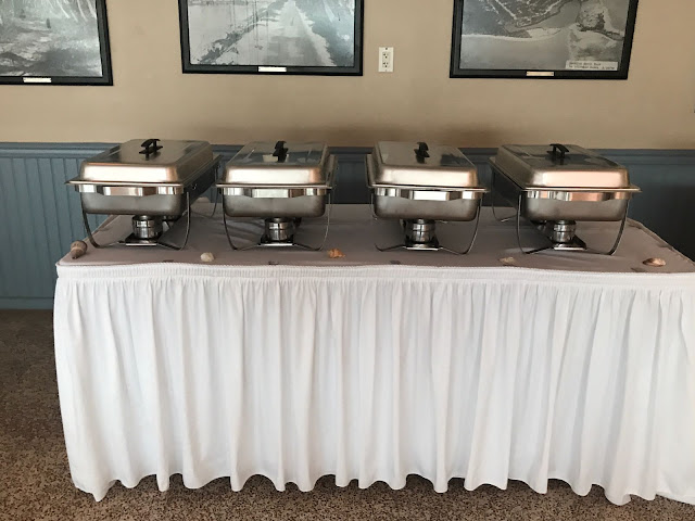 buffett table, chaffing dishes, food, foodies, wedding menu