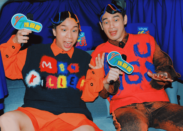 阿Ken與派翠克身穿江奕勳 ANGUS CHIANG SS21系列在《vivo YT搜查線》中時髦亮相