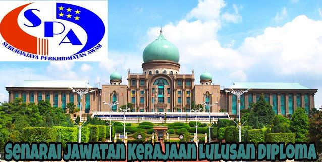 Senarai Jawatan Kerajaan Lulusan Diploma 2021