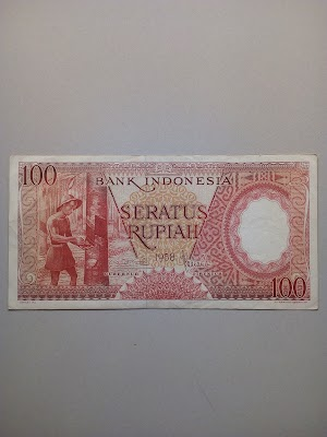 100 rupiah tahun 1958