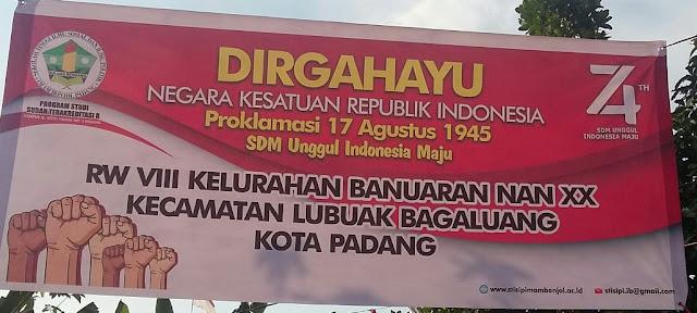 Dirgahayu HUT RI ke-74 Warga RW. 8 Banuaran, Padang