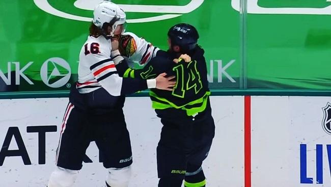 jamie benn zadorov nhl hockey fight