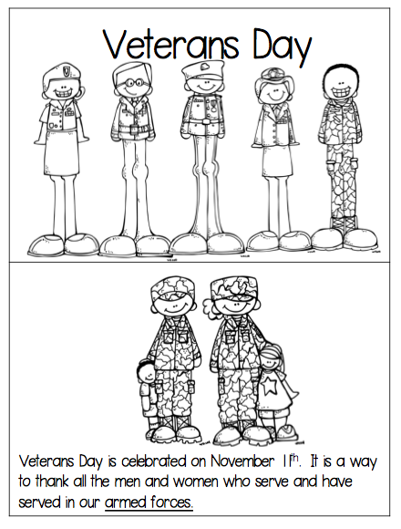1st Grade Hip Hip Hooray!: Veterans Day