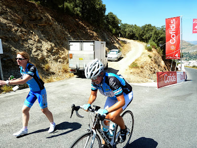 Cycling the race route of Hazallanas on the La Vuelta a España in Granada