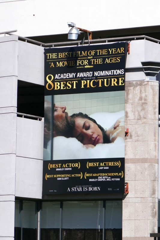 A Star is Born Oscar nominee billboard