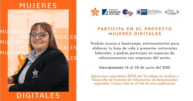 120 aprendices participarán en el proyecto Mujeres Digitales, un programa creado para promover la empleabilidad del sector TIC
