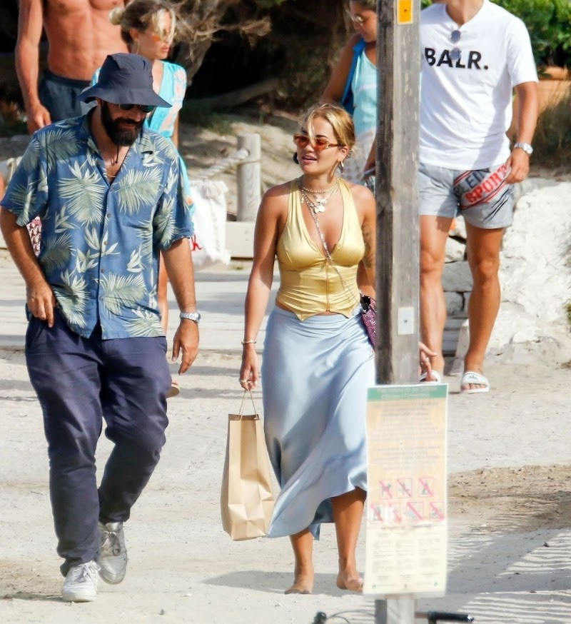 Rita Ora Out for Lunch in Ibiza 2 Aug -2020