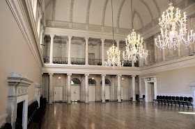 The tea room, the Assembly Rooms, Bath. They were known as the  Upper Rooms to distinguish them from the older Lower Rooms