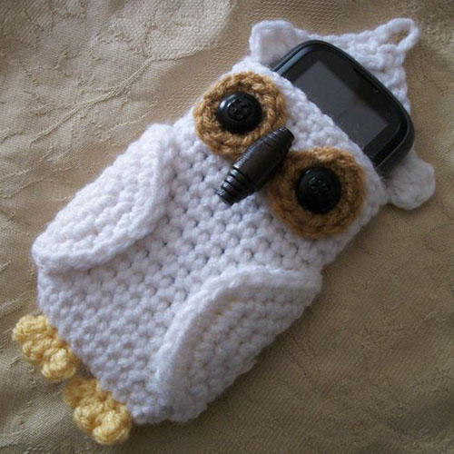 Beautiful Skills Crochet Knitting Quilting Owl Cell Phone Cozy