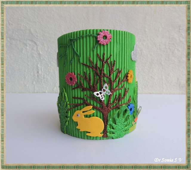 Pen Stand Designs For Kids : Cards crafts kids projects diy woodland pen stand