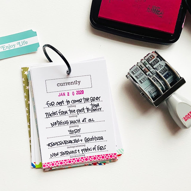 #currently #journal card #printable #instant download #right now #document #storyteller #washii tape