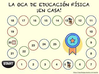 AYUDA PARA MAESTROS: La oca de la Educación Física en casa