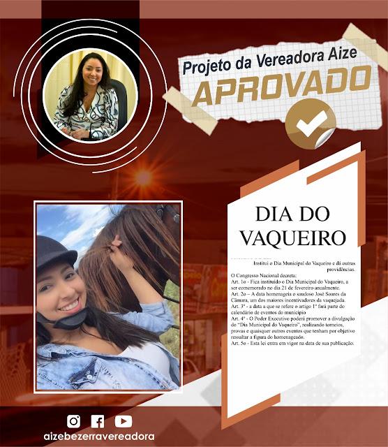 blogdojasão.com.br: Vereadora Aize faz homenagem aos vaqueiros de ...