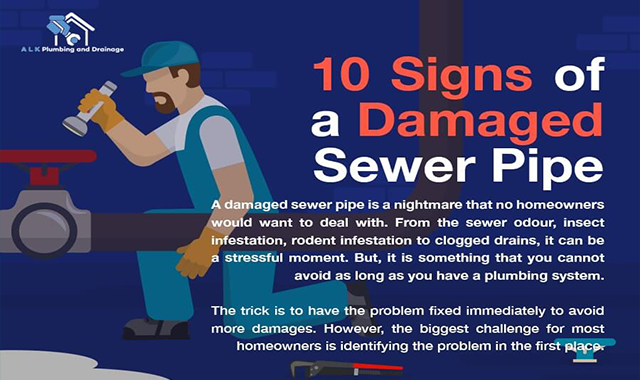 10 Symptoms of a Damaged Sewer Pipe #infographic